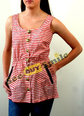 68f6bc299ff See Buy Smile :) - Nautical Striped Tunic Top from River Island